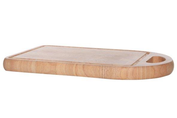 Cosy & Trendy Vleesplank Met Handvat 40x25xh3cm Rechthoek Rubberwood