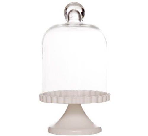 Cosy & Trendy Anna Holder In Glass On Foot D11x21cmwhite Metal (12er Set)