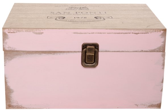 Cosy @ Home San Ponti Houten Box1 23x18x12.5cm Roze