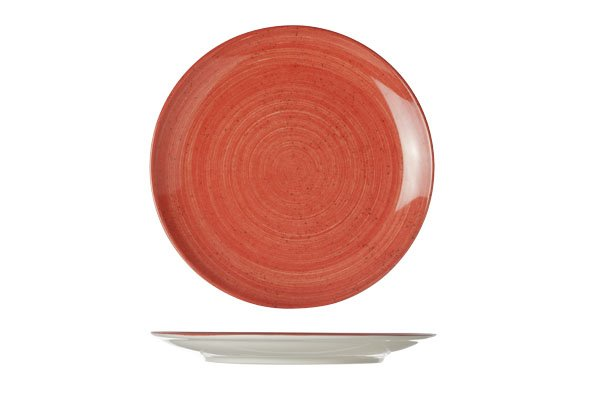 Cosy & Trendy For Professionals Twister Red Plat Bord D21cm