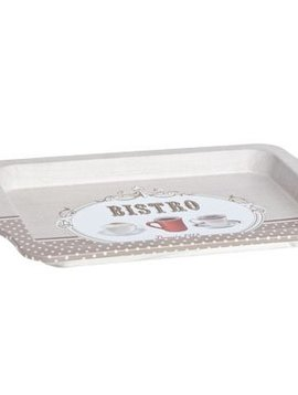 Cosy & Trendy Bistro Tin Tray D25x16xh2.8cmdesign Coffee Fabric