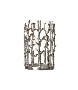 Cosy & Trendy Windlicht Aluminium-glas 20x12.5cmzilver