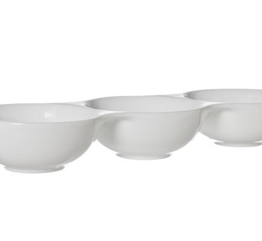 Bolzano Bowl 3 Compartments 37x12.8xh5.2