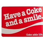 Cosy & Trendy Placemat Pp Coke And Smile Red 43x30cm