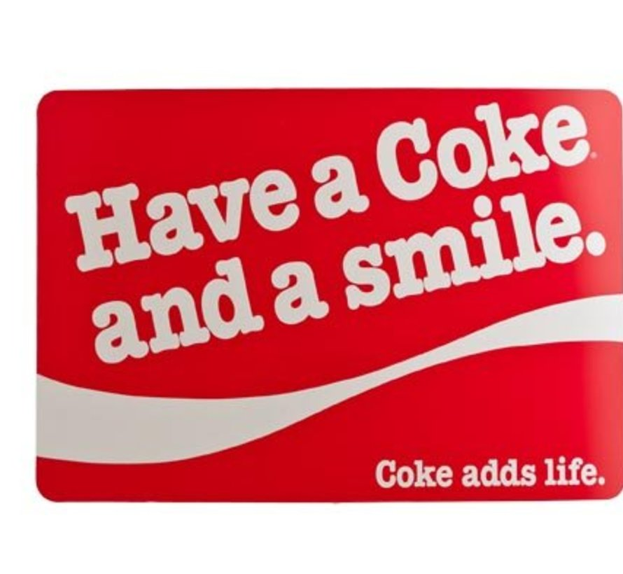 Placemat Pp Coke And Smile Red 43x30cm