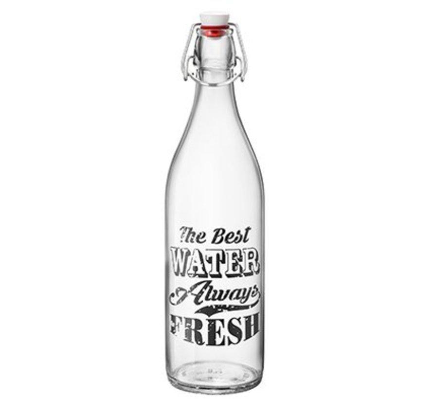 Giara Vintage Label Fles 1l Zwart (set van 6)