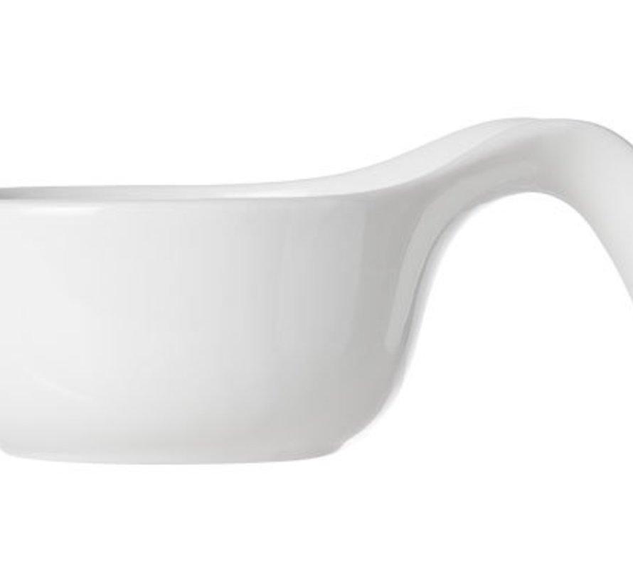Dish White D7.8-11xh5cm Set3 Spoon Shape (6er Set)