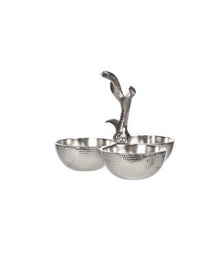 Cosy & Trendy Bowl - Silver colored - 12.5x16x16cm - Aluminum .