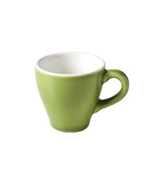 Cosy & Trendy For Professionals Barista Green Kopje D6.3xh6.2cm - 7cl Aardewerk -  (set van 6)