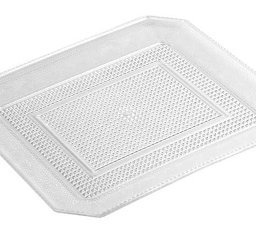 Luxe Tray Rect 28x23xh1.7cmplastic (15er Set)