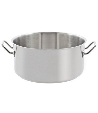 Cosy & Trendy For Professionals Professional - Cooking pot - Low - Without Lid - D36xH17cm - All Fires - Stainless steel.
