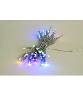 Light Creations Showlight Led 5m 40l Multi Color Indoortransp Draad - Modulator - Batt-plug
