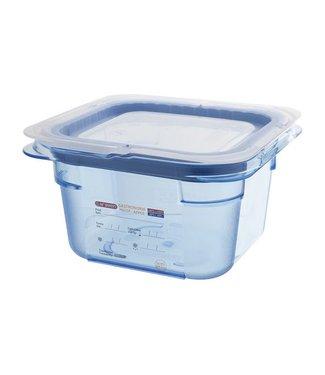 Araven Gnbox Blauw  Gn1-6 H100mm 1.5l M Dekselairtight - Bpa Free