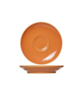 Cosy & Trendy For Professionals Barista Orange Ondertas D16cm voor Tas 20-30-45cl  Aardewerk - (Set van 12)