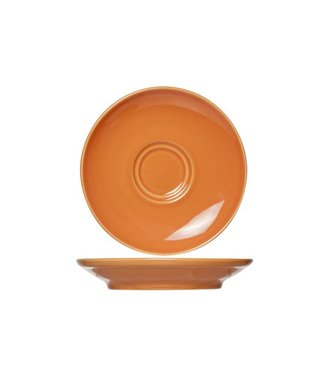 Cosy & Trendy For Professionals Barista Orange Saucer D16cmfor Cup 20-30-40cl (set of 12)