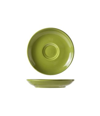 Cosy & Trendy For Professionals Barista Green Coffee plate D13cm for Bag 7-15cl set of 12