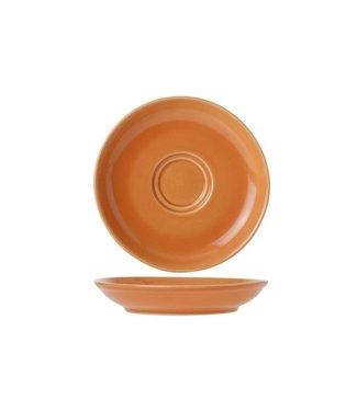 Cosy & Trendy For Professionals Barista Orange Ondertas D13cm voor Tas 7-15cl  Aardewerk - (Set van 12)