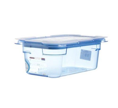 Araven Gnbox Blauw  Gn1-4 H100mm 2.8l-dekselairtight-bpa Free