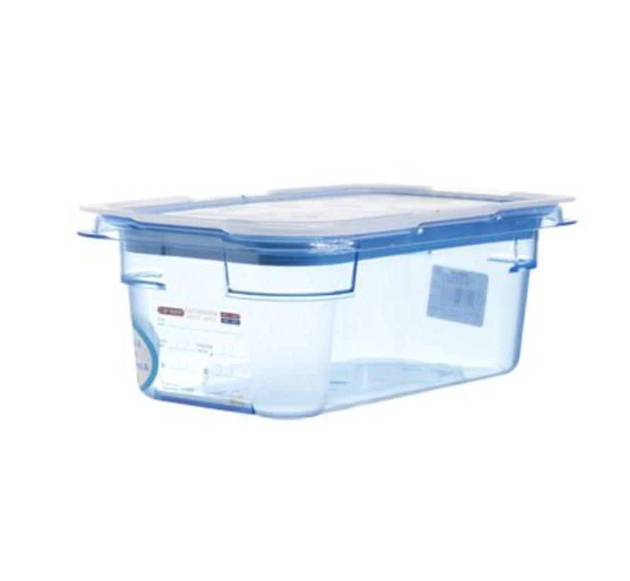 Gnbox Blauw  Gn1-4 H100mm 2.8l-dekselairtight-bpa Free