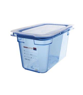 Araven Gnbox Blauw  Gn1-4 H150mm 4.3l-dekselairtight-bpa Free