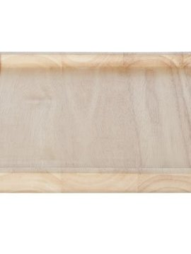 Cosy & Trendy Square Wooden Tray With Handle D29x1,8cm