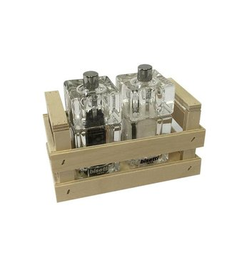 BISETTI Set Wood Box Natural Pepper And Saltmill Included - 839 And 839s