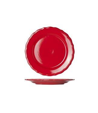 Cosy & Trendy Juliet Red Dessert Plate Bright D21.6cm  - Ceramic - (Set of 6)