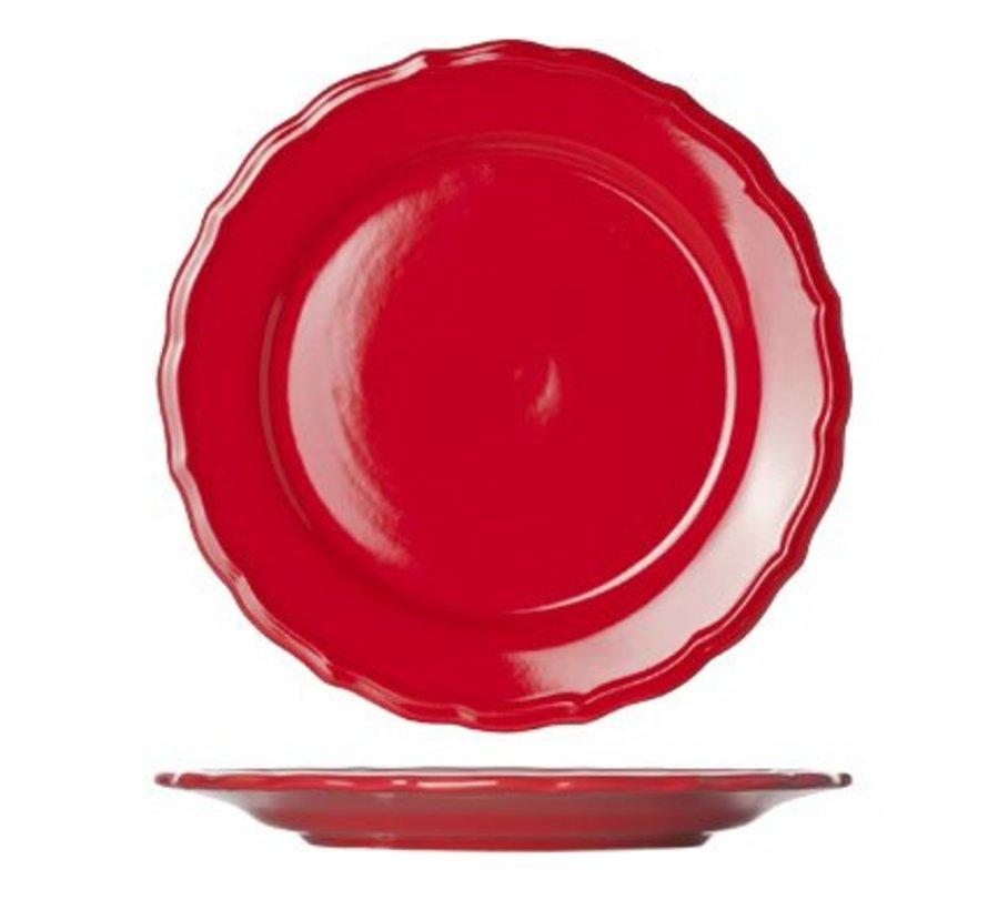 Juliet Red Dessertbord Blinkend D21.6cm (set van 12)