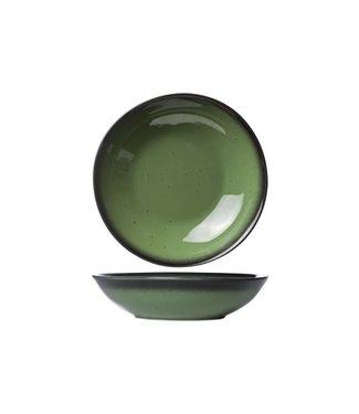 Cosy & Trendy For Professionals Vigo - Diep Bord - Groen - D22cm - Porselein - (set van 6).