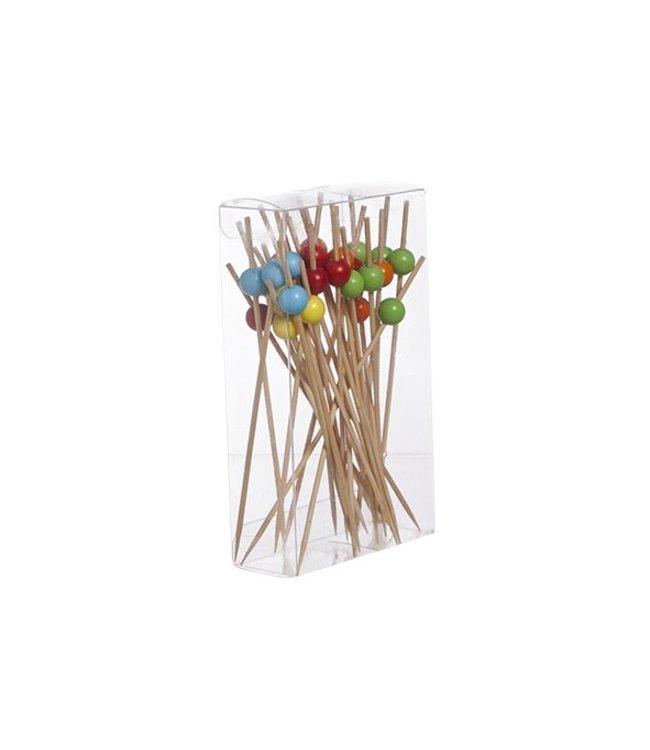 Cosy & Trendy Apero-prikkers - Naturel - 12cm - Hout - (set van 30)