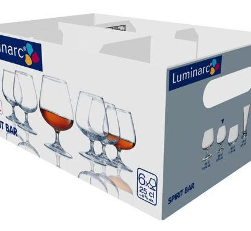 Luminarc Spirit Bar Brandy Cognacglas 25cl (set van 6)