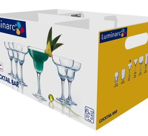 Luminarc Cocktail Bar Margarita Glas Op Voet 27cl (set van 6)