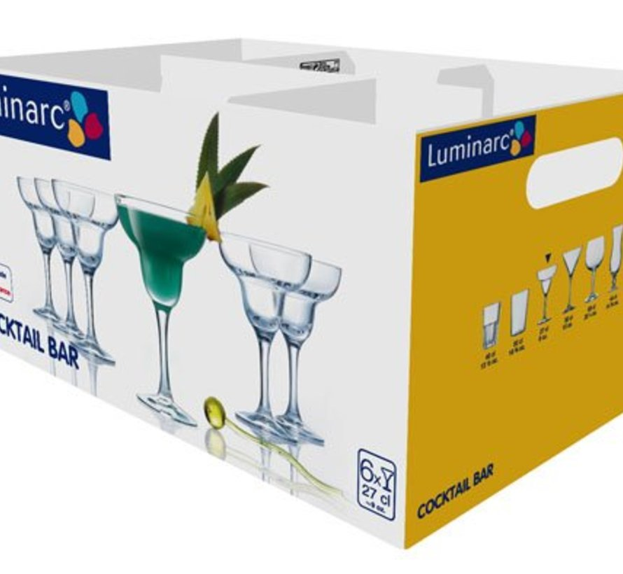 Cocktail Bar Margarita Glas Op Voet 27cl (set van 6)