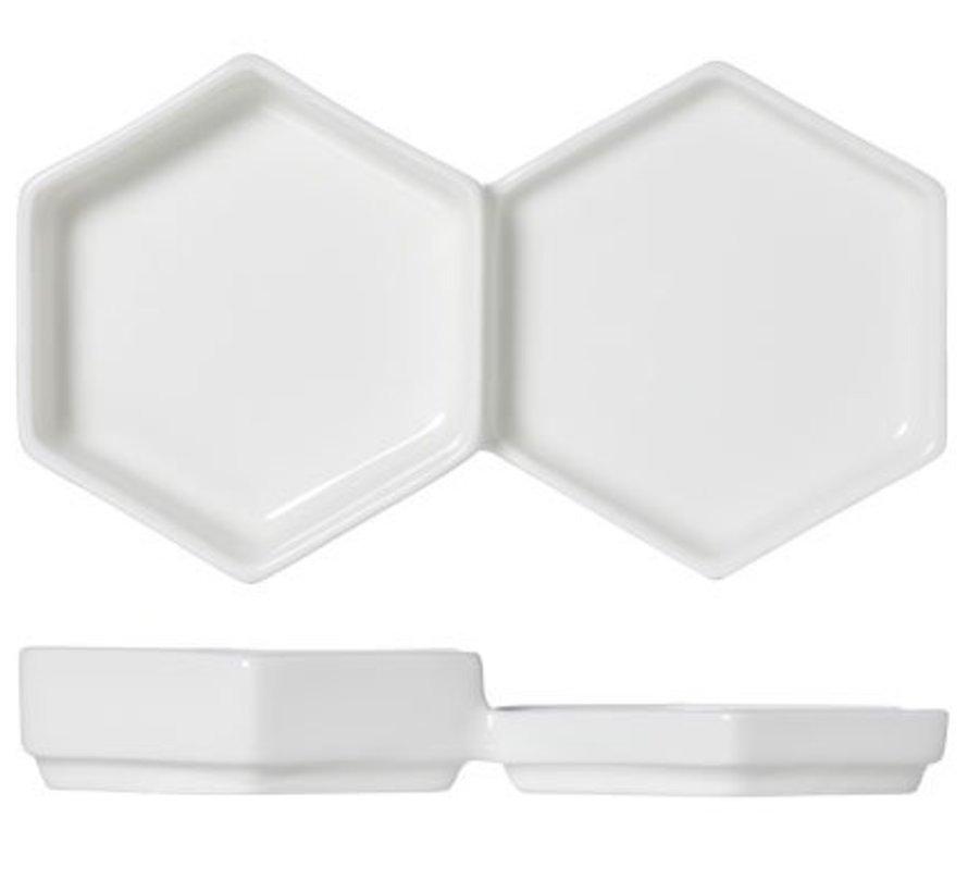 Hive Small Twin Plate 18.5x10xh1.7-3cm