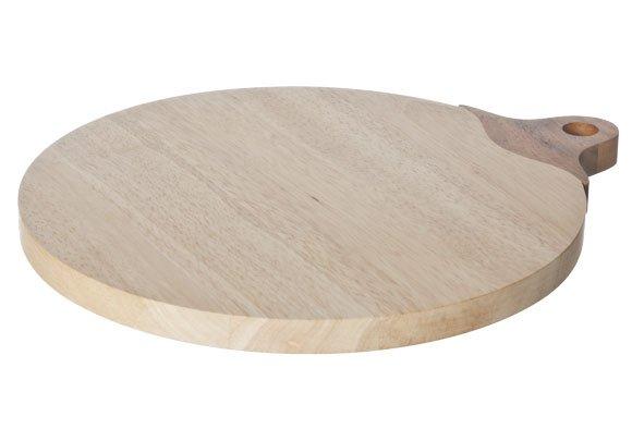 CT Big Appel Snijplank Rubberwood Handvat34x29x1,8 Cm