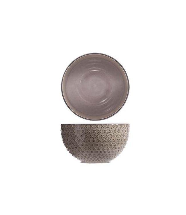 Cosy & Trendy Babylon - Bowl - Paars - D15xh8.5cm - Keramiek - (set van 6)