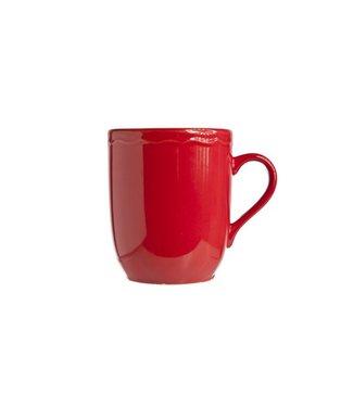 Cosy & Trendy Juliet Red Mug Bright 44cl D9cm