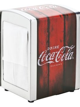 Cosy & Trendy Retro Coca Cola Napkin Dispenser Metal10.1x9.8xh14.1cm
