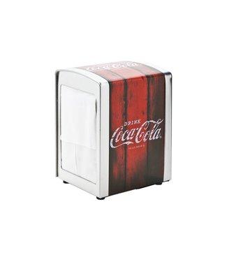 Cosy & Trendy Coca Cola - Servethouder - Rood - 10.1x9.8x14.1cm - Metaal - (set van 2).