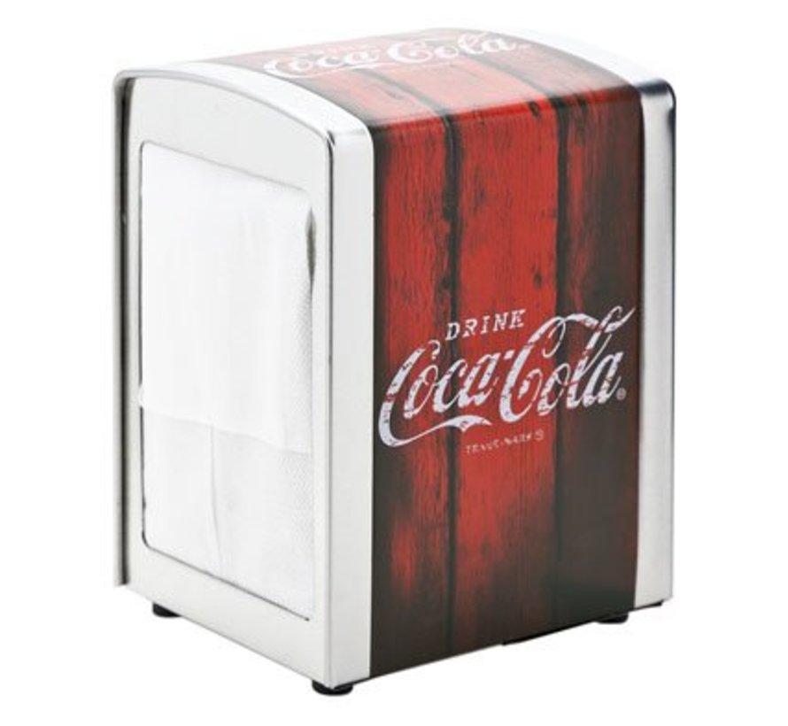 Retro Coca Cola Servethouder 10.1x9.8x14.1cm Metaal