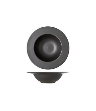 Cosy & Trendy Black Deep Plates D27cm - Ceramic - (set of 6)