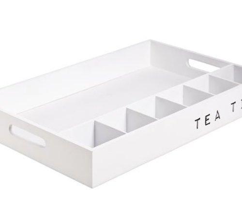 Cosy @ Home Plateau Tea Time Holz Weiss 45x6x30cm
