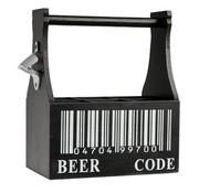 Cosy & Trendy Beer Bottle Rack Black With Opener27x27.5x15cm