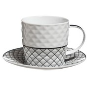 Cosy & Trendy Mosaic Cappuccino Cup And Saucer Set 425cl Cup D8xh7.5cm - Saucer D14.5cm