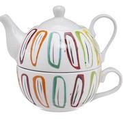 Cosy & Trendy Teapot With Cup Deco D11xh14cmteapot 38cl - Cup 30cl
