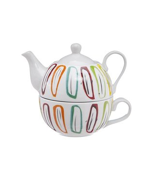 Cosy & Trendy Teapot With Cup Deco D11xh14cmteapot 38cl - Cup 30cl