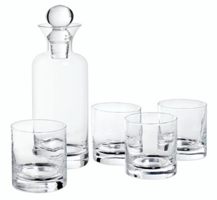 Whisky Set Carafe 741ml - 4 Glasses 236md6.7xh24.8cm - D7.5xh8cm