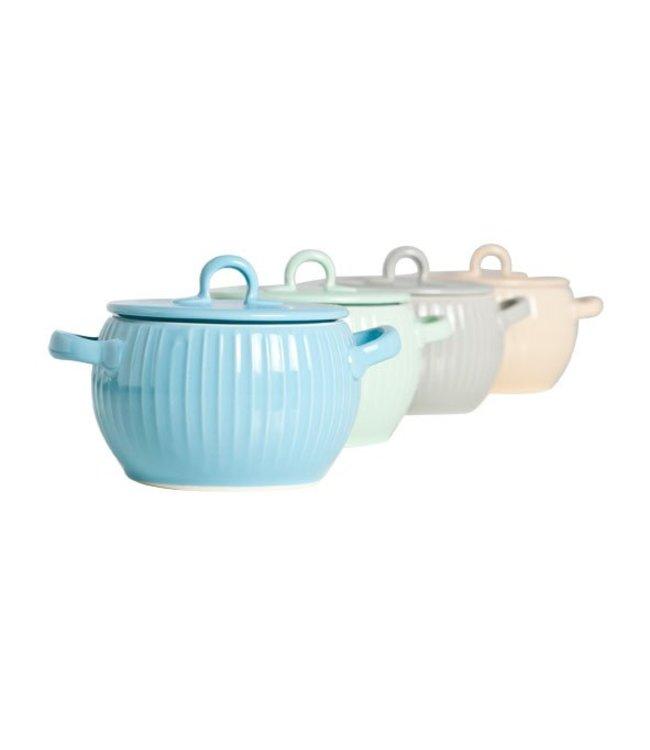 Cosy & Trendy Aperopotje Met Deksel 9-12cm Set 4 Ass22cl Green-beige-grey-blue