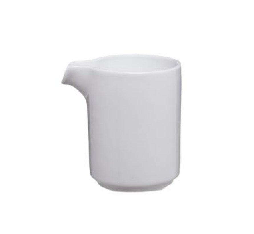 Melkkannetje Wit Mini D6xh7.5cm - 10cl (set van 6)