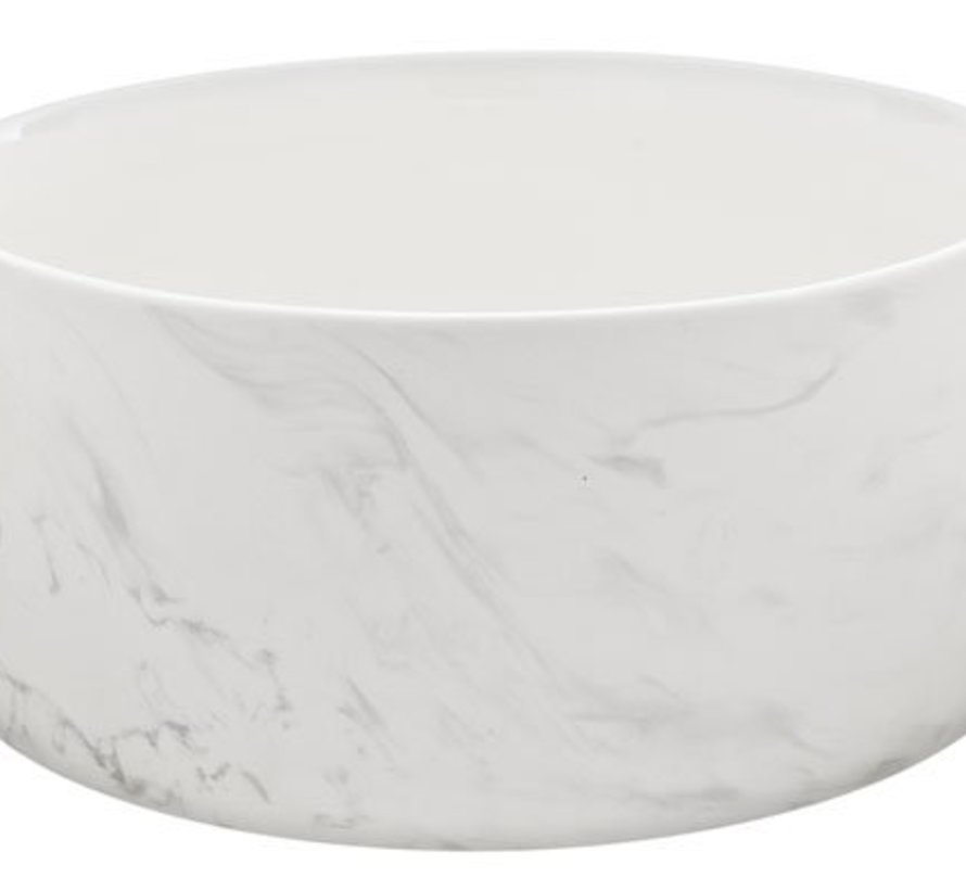 Marble Grey Bowl D22xh10.3cm 2.1l